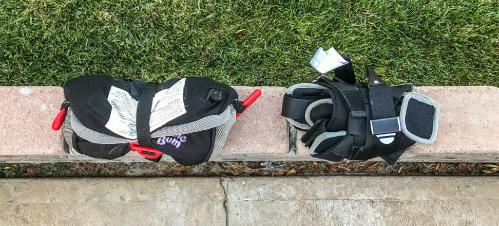 Bubblebum (left) compared with Ride Safer travel vest (right)